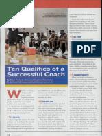 10 Qualities Successfu lCoach