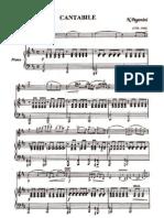 Paganini N. - Cantabile (Viol.&Piano)