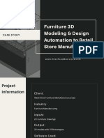Furniture 3D Modeling & Design Automation to Retail Store Manufacturer
