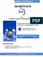 Bank Negara Malaysia BCM Guidelines 2008