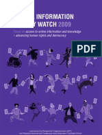 Global Information Society Watch Report on Access to Online Information and Knowledge