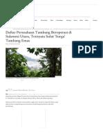 Daftar Perusahaan Tambang Beroperasi di Sulawesi Utara, Ternyata Sulut 'Surga' Tambang Emas - Tribun Manado