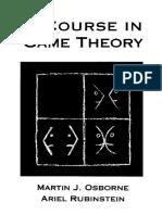 M. J. Osborne, A. Rubinstein_A Course in Game Theory