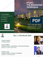 FTAP 7th Residential Conference - Final Brochure