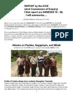 ICOE-Padaka Attacks, Summarized