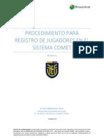 PROCEDIMIENTO REGISTRO DE JUGADORES PR-002-19 - VERSIÓN 2 - 07 DE FEBRERO 2020