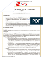 FONDO de ESTABILIZACION Bolivia_ Decreto Supremo Nº 27302, 23 de Diciembre de 2003