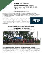 ICOE-Ngayantchaung Attacks, Summarized