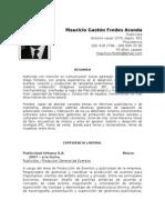 CV Mauricio Gaston Fredes Aranda