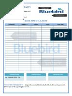 blue bird tempelate