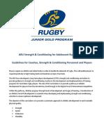ARU SC Guidelines 2013