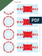 The Celebration Shoppe Mod Candy Cane Gift Tag & Recipe Cards