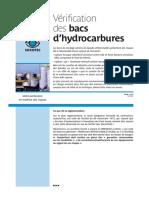 Vérification des bacs d'hydrocarbures
