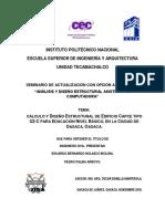 CALCULO Y DISEÑO ESTRUCTURAL DE EDIFICO TIPO CAPCE U2-C TE-10451