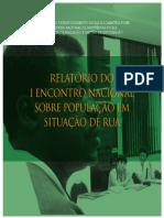 Relatório sobre o I encontro Nacional sobre População em situação de rua
