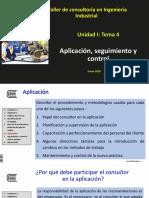 Unidad I tema 4. Aplicación, seguimiento y evaluacion