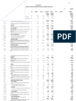 presupuesto desagregado - arquitectura