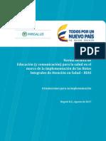 Educacion para la salud RIAS   abril 2018