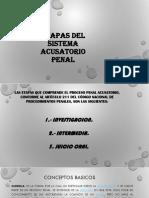 etapas del sistema acusatorio