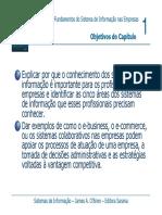 Fundamentos do Sistema de Informação nas Empresas. Objetivos do Capítulo