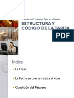Estructura y Código de la Tarifa