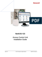 NetAXS123 Access Control Unit Installation Guide 800-05779-A