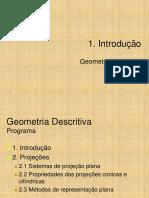 Introdução a Geometria Descritiva