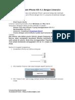 Cara Jailbreak iPhone IOS 4.1 Dengan Limera1n