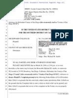 San Diego Response to Joe Collins REDACTED
