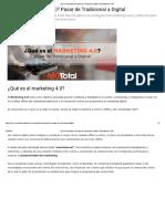 ¿Qué es Marketing 4.0_ Pasar de Tradicional a Digital - Mercadotecnia Total