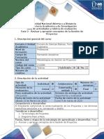Guía de actividades y rúbrica de evaluación Fase 2 - Revisar y apropiar conceptos de la Gestión de Proyectos