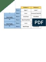 Hypertrophy Programme Week 1-10