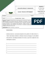 evaluación lenguaje 6to