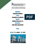Geografía de la Industria