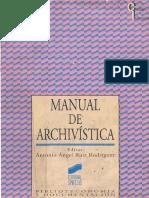 ANTONIO RUIZ - Manual de Archivistica - Capitulo 6