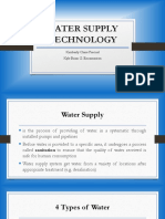 WATER SUPPLY TECHNOLOGY