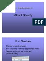 Greg So Well Mikrotik Security