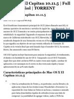 Descargar Mac OS X El Capitan 10.11.5   Full ISO   Español   TORRENT