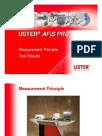 USTER AFIS PRO - Measurement Principle & Test Results