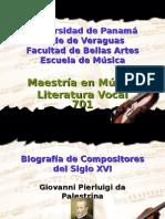 Vida y Obra de Palestrina, Victoria y Dowland