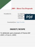 Finance Bill 2009