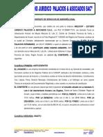 MODELO CONTRATO DE ASESORIA Y DEFENSA