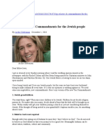 The Other 10 Commandments for the Jewish People