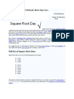 Square Root Day