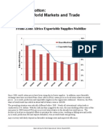 Franc-Zone Africa Exportable Supplies Stabilize