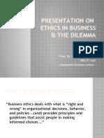Presentation on Ethics.