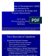 Updated GAD Requirements for Country Partnership Strategy and Project Documents