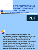 ASSESMENT OF NUTRITIONAL STATUS USING THE DIETARY METHOD