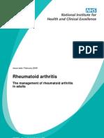Rheumatoid NICE Guideline