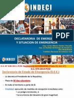DECLARATORIA DE ESTADO DE EMERGENCIA 2016